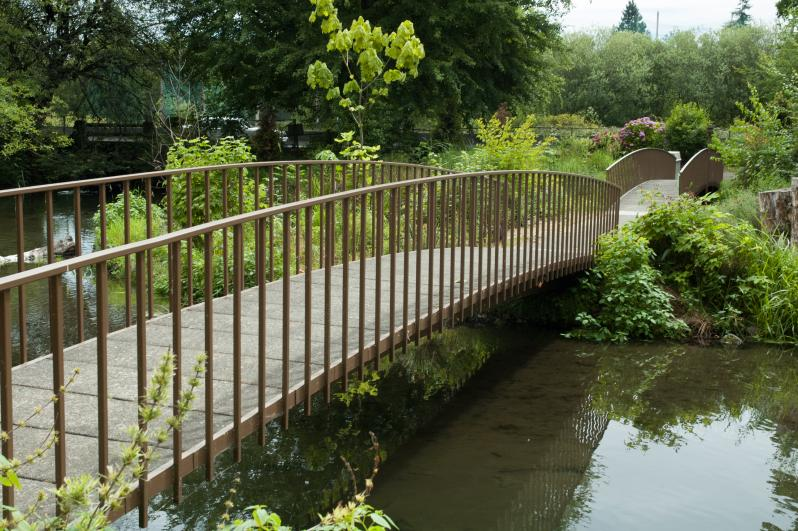 Bridge leading to Resident Gardens